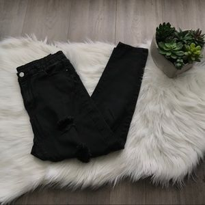 Fashion High Waisted Distressed Skinny Jeggings